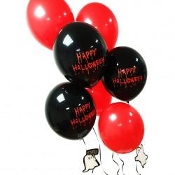 Bukiet balonowy Happy Halloween czarno-czerwony