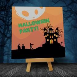 Zaproszenia na halloweenową imprezę Noc Zombie