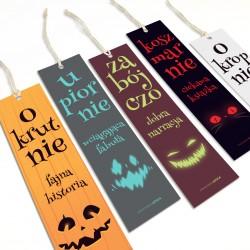 Straszne halloweenowe zakładki do książek zestaw