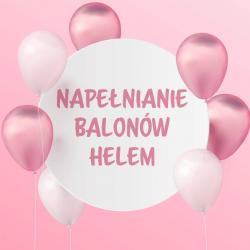 Napełnianie helem balonów lateksowych
