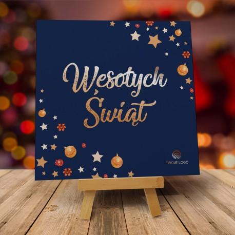 Kartki świąteczne firmowe z logo ELEGANCKO NA ŚWIĘTA