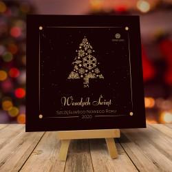 Kartki biznesowe świąteczna z logo ŚWIĄTECZNA CZEKOLADA