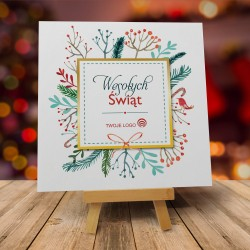 Kartka firmowa świąteczna STROIK BOŻONARODZENIOWY