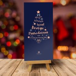 Kartki świąteczne bożonarodzeniowe dla firm INSPIRACJE CHOINKOWE No. 1 CIEMNE