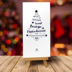 Kartka na Boże Narodzenie z logo INSPIRACJE CHOINKOWE No. 3 BIAŁE