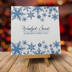 """Kartki na święta dla znajomych i rodziny """"TANIEC ŚNIEŻYNEK W DZIEŃ"""" z kopertami"""
