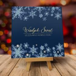 """Modne kartki świąteczne z kopertami """"TANIEC ŚNIEŻYNEK NOCĄ"""""""