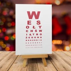 """Kartki bożonarodzeniowe z kopertami """"TEST NA WZROK"""""""