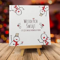"""Kartka na Boże Narodzenie z kopertami """"WESOŁE BAŁWANKI"""""""