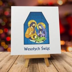 """Kartki świąteczne religijne z kopertą """"WITRAŻ"""""""