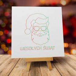 """Śmieszne kartki bożonarodzeniowe z kopertami """"ŚMIESZNY MIKOŁAJ"""""""