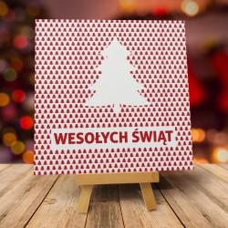 """Nowoczesne kartki świąteczne z kopertą """"CHOINKA W LESIE"""""""