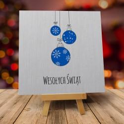 """Kartki świąteczne na Boże Narodzenie """"ŚNIEŻNE BOMBECZKI"""" z kopertami"""