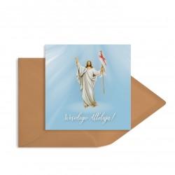 """Kartki religijne wielkanocne """"Niebiańskie"""" z dedykowanymi kopertami"""