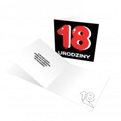 """Zaproszenia na 18 urodziny """"Czerwona Balonowa 18"""" z kopertami"""