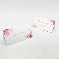 Zachwycające wizytówki na stół Delikatne Listki