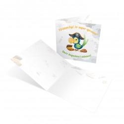 Kartka urodzinowa tematyczna Papuga Pirat z kopertą do wyboru