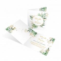 Modne zaproszenia ślubne Zielone Boho