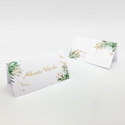 Wizytówki na stół Zielone Boho personalizowane
