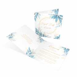 Zaproszenia na chrzest Blue dla chłopca personalizowane