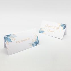 Zachwycające wizytówki na stół Blue