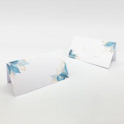 Wizytówki na stół bez personalizacji Blue na przyjęcie