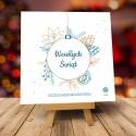 Kartki świąteczne biznesowe z logo Bombka