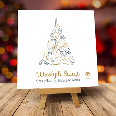 Kartki świąteczne biznesowe z logo TANIEC ŚNIEŻYNEK W DZIEŃ