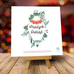 Kartki świąteczne biznesowe z logo Abeto