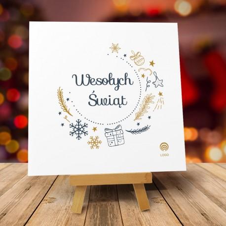 Kartki świąteczne biznesowe z logo Navi