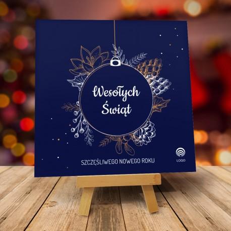 Kartki świąteczne biznesowe z logo Floresta
