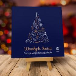 Kartki świąteczne biznesowe z logo Stilla
