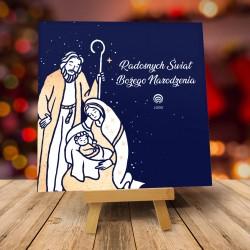 Kartki świąteczne biznesowe z logo Zimowy Wieczór