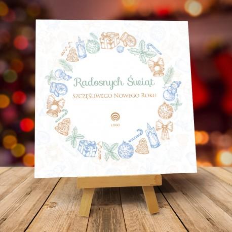 Kartki świąteczne biznesowe z logo Święta