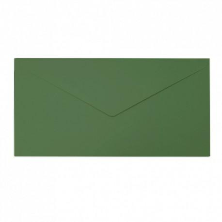 Koperta ozdobna DL zielona matowa