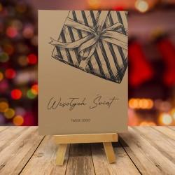 Kartki świąteczne CZARNA PACZUSZKA dla firm