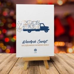 Kartki bożonarodzeniowe LIGHT TRUCK z nadrukiem logo