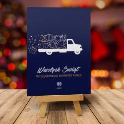 Kartki na Boże Narodzenie DARK TRUCK z logiem firmy