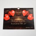 """Kalendarz z Twoimi zdjęciami / personalizowany """"Love"""" A4"""